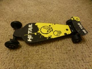 Dash's mini skateboard.