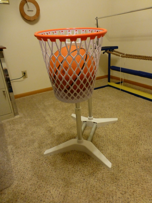 Our extra big basketball prop.